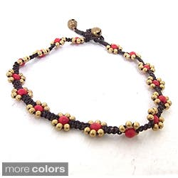 Handmade Flower Beads Anklet (Thailand)|https://ak1.ostkcdn.com/images/products/7879824/Flower-Beads-Anklet-Thailand-P15262764a.jpg?impolicy=medium