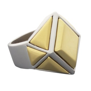 NEXTE Jewelry Two-tone Architectural Urban Ring