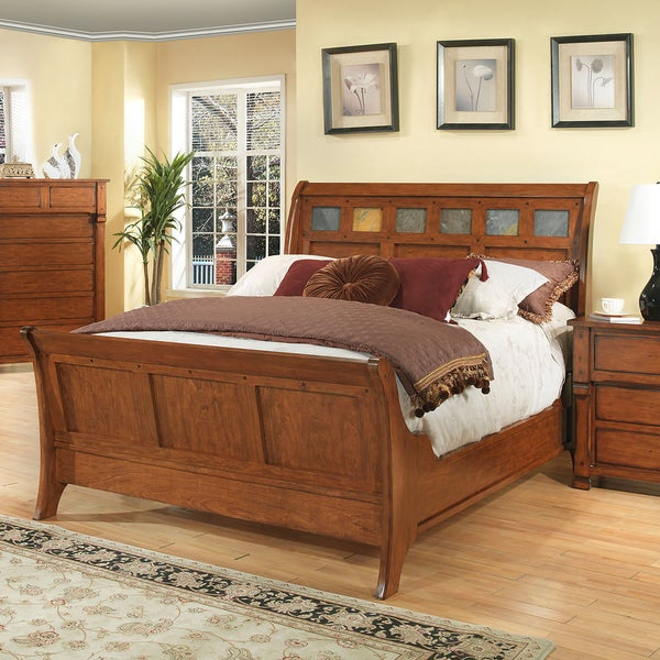 Durango Solid Dark Birch Sleigh Bed Free Shipping Today