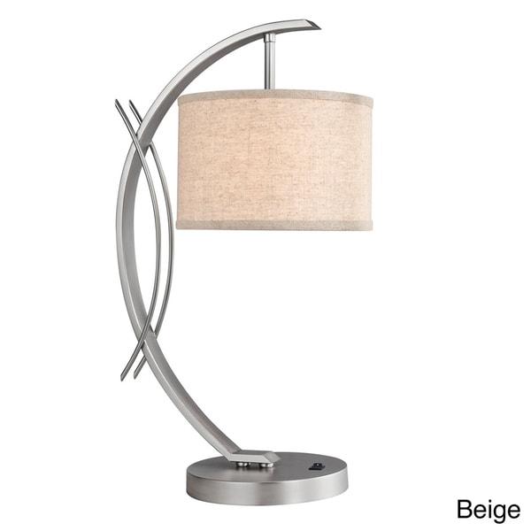 Eclipse 1-light Satin Nickel Table Lamp