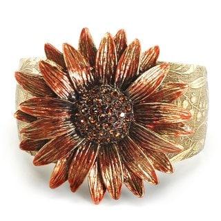 Sweet Romance Retro Sunflower Daisy Flower Cuff Bracelet