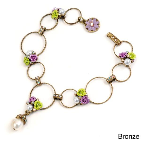 Sweet Romance Rose Circle Link Bracelet