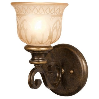 Crystorama Norwalk Collection 1-light Bronze Umber Wall Sconce