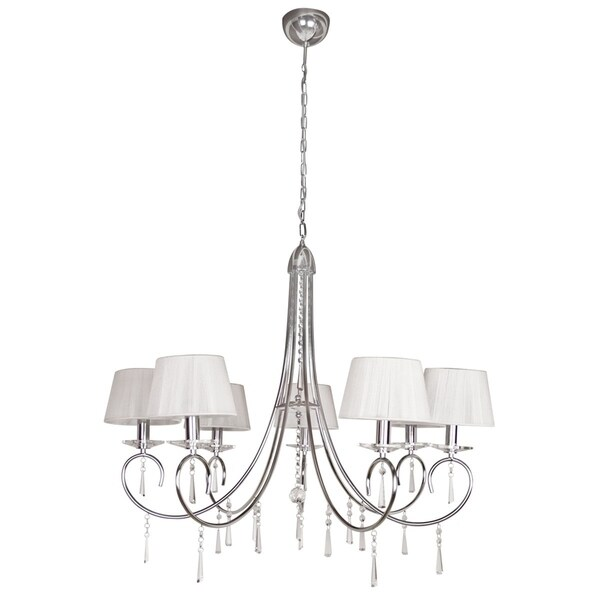 EGLO 'Selene' 7-light Crystal Droplet Chandelier