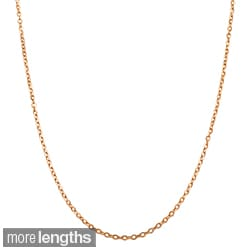 Fremada 14k Rose Gold 1mm Flat Cable Link 16 - 18-inch Chain