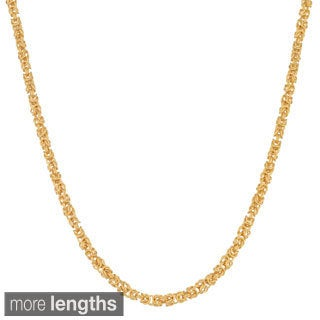Fremada 18k Gold over Silver 3.55-mm Byzantine Necklace (18-20 inches)