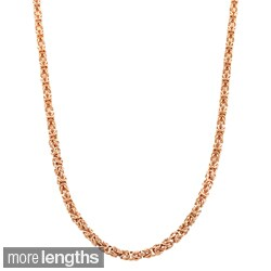 Fremada 18k Gold over Silver 3.55-mm Byzantine Necklace (18-24 inches) (3 options available)