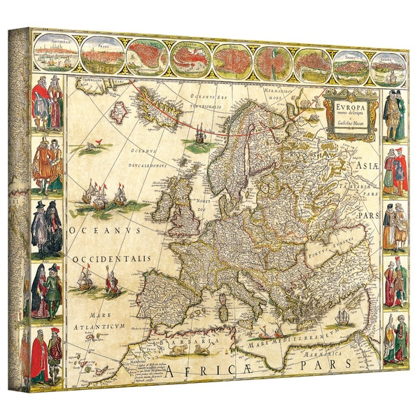 Map Of Europe For Sale.Shop Willem Blaeu Map Of Europe Gallery Wrapped Canvas Multi