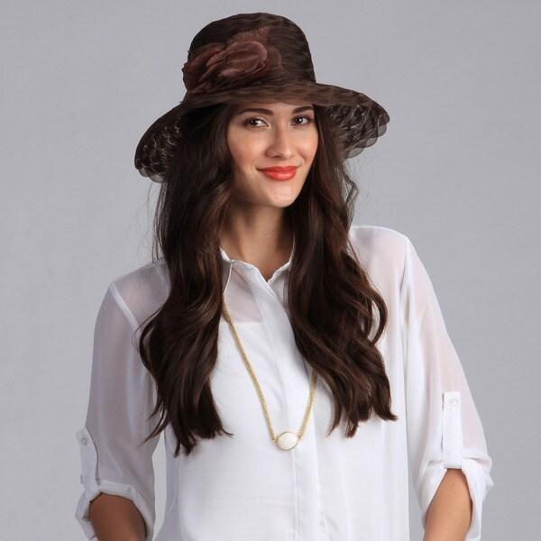 Swan Hat Women's Brown Crinalin Packable Hat
