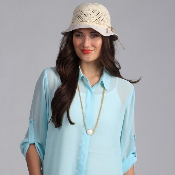 Swan Hat Women's Knit/Cotton Bucket Sun Hat