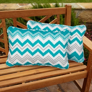 Tropic Zazzle Corded Outdoor Pillows (Set of 2)