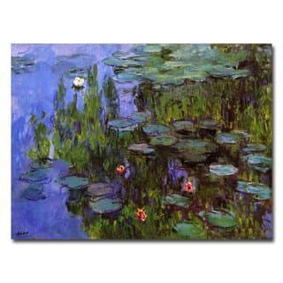Claude Monet 'Sea Roses' Canvas Art - Multi