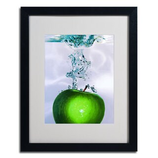 Roderick Stevens 'Apple Splash' Vertical Framed Matted Art