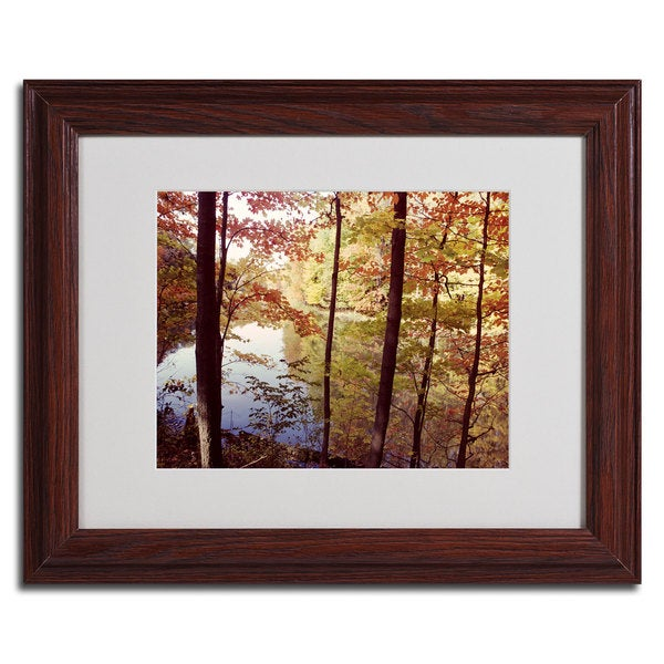 Kurt Shafer 'A Secret Pond' Horizontal Framed Matted Art - Multi
