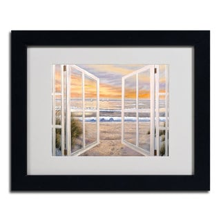 'Elongated Window' Horizontal Framed Matted Art