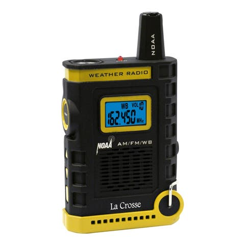 La Crosse 810-805 Handheld AM/FM/Weather Band NOAA Weather Radio