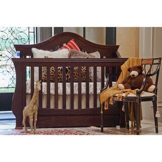 Million Dollar Baby Classic Ashbury 4-in-1 Convertible Crib with Toddler Rail