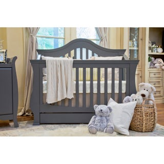 Million Dollar Baby Classic Ashbury 4-in-1 Convertible Crib with Toddler Rail (Option: Manor Grey - Grey Finish)