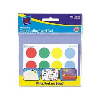 Avery Removable 0.75-inch Round Color Coding Label Pad (480 Labels)