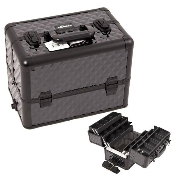 Sunrise Black Diamond Extendable Tray Makeup Case