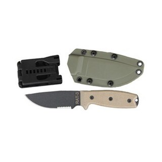 Ontario Knife Co RAT-3 1095 Partially Serrated Knife with Sheath