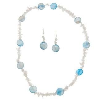 Blue and White Necklace Set