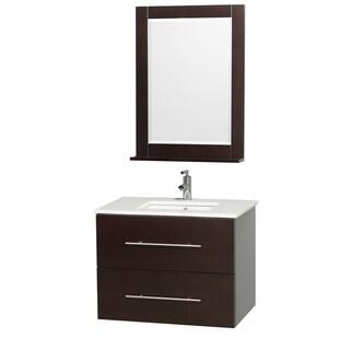 Wyndham Collection Centra Espresso/ White 30-inch Single Bathroom Vanity Set