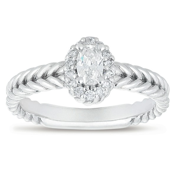 14k White Gold 3/8ct TDW Diamond Engagement Ring (H-I, I1-I2)