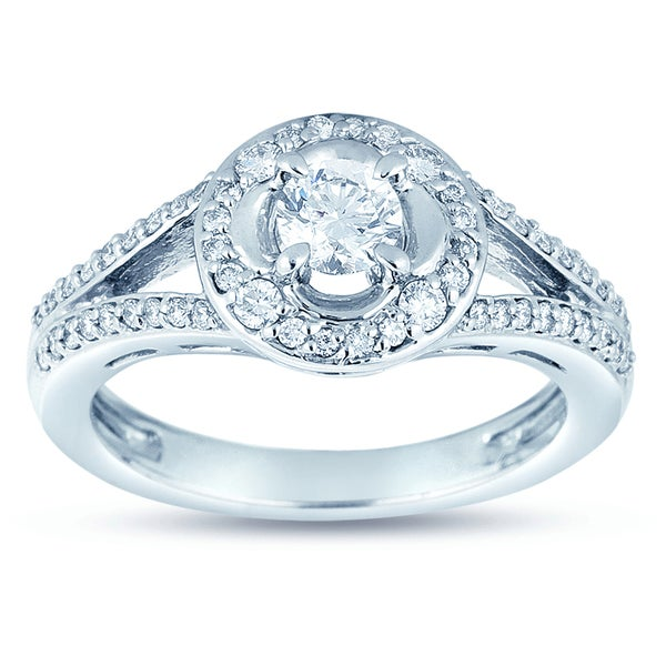 18k Gold 3/4ct TDW Diamond Engagement Ring (H-I, SI1-SI2)
