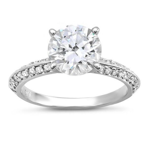 14k White Gold 1 1/3ct TDW Diamond Engagement Ring (G-H, SI1-SI2)