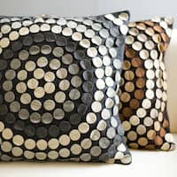 August Geometric Medallion Feather Down or Poly Filled Decorative Pillow