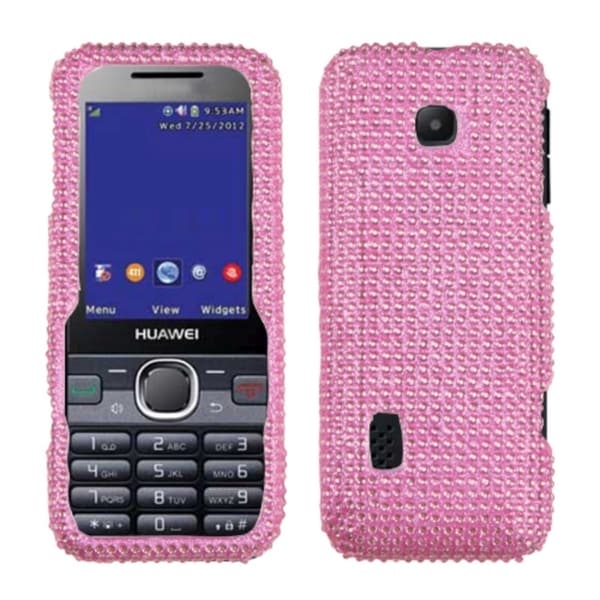 INSTEN Pink Diamante Protector Case Cover Diamante 2.0 for Huawei M570 Verge