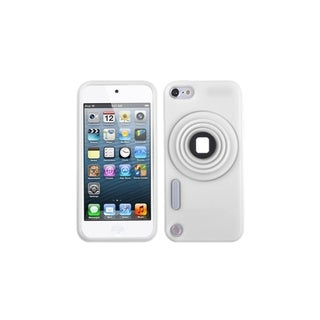 INSTEN White Camera Stand Case Cover for Apple iPod Touch Generation 5