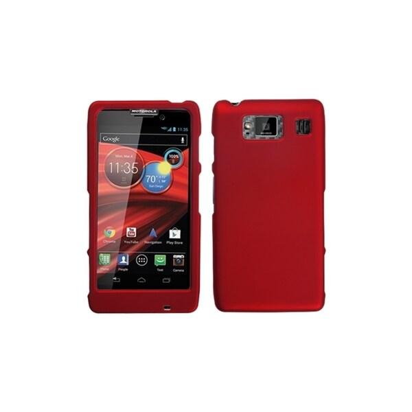 MYBAT Titanium Solid Red Phone Case Cover for Motorola XT926M