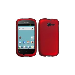 INSTEN Titanium Solid Red Phone Case Cover for Huawei M866 Ascend Y