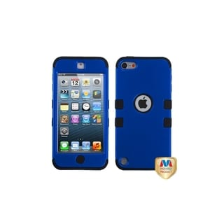 Insten Dark Blue/ Black Tuff Hard PC/ Silicone Dual Layer Hybrid Rubberized Matte Case Cover For Apple iPod Touch 5th/ 6th Gen