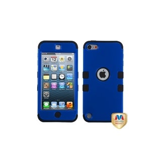 Insten Dark Blue/ Black Tuff Hard PC/ Silicone Dual Layer Hybrid Rubberized Matte Case Cover For Apple iPod Touch 5th/ 6th Gen