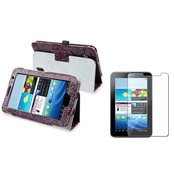 BasAcc Leather Case/ Screen Protector for Samsung© Galaxy Tab 2 7.0