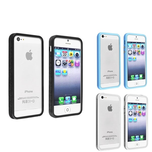 INSTEN TPU Phone Case Covers for Apple iPhone 5 (Pack of 3)/ 5S