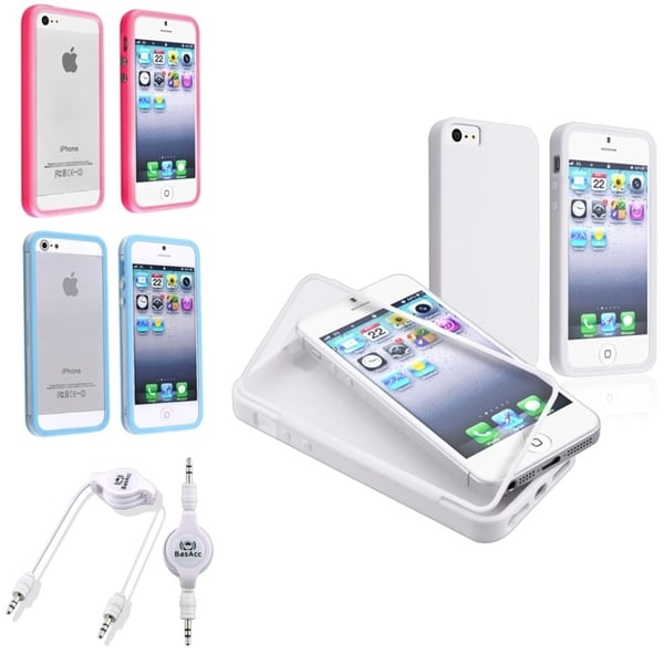 BasAcc TPU Cases/ Audio Cable for Apple iPhone 5