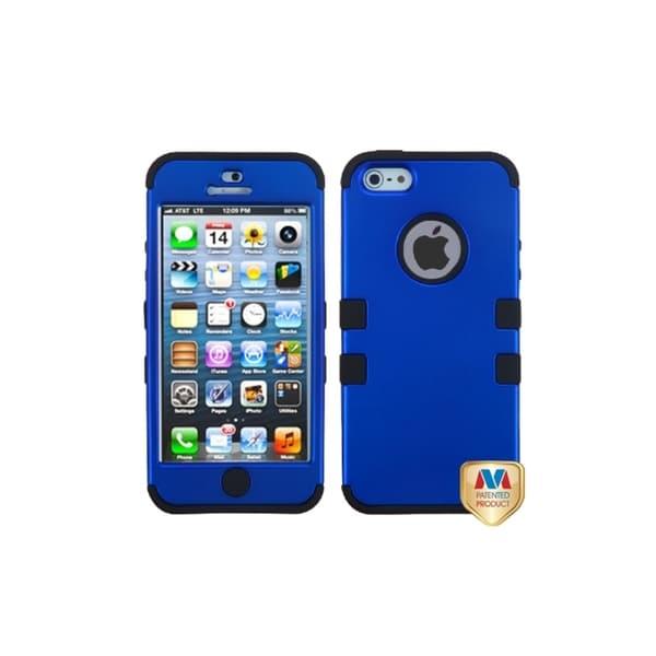 MYBAT Dark Blue/ Black Hybrid Case for Apple iPhone 5