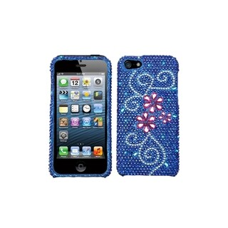 INSTEN Juicy Flower Diamante Phone Case Cover for Apple iPhone 5