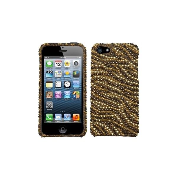 INSTEN Tiger Diamante Case Cover for Apple iPhone 5