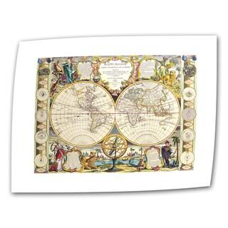 Samuel Dunn 'Mappe-Monde Carte Universelle de la Terre Dressee' unwrapped canvas