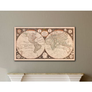 Jean Baptiste Nolin 'A New Map of the World' gallery-wrapped canvas
