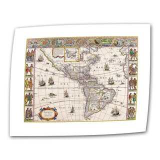 Willem Blaeu 'Map of South America' Unwrapped Canvas