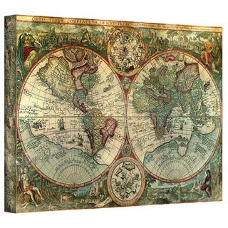 Link to Unknown 'Treasure Map' Gallery Wrapped Canvas Similar Items in Canvas Art