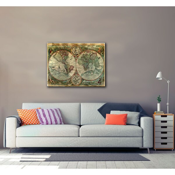 Unknown 'Treasure Map' Gallery Wrapped Canvas