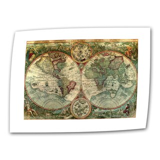 Unknown 'Treasure Map' Unwrapped Canvas