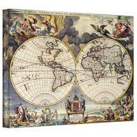 Loanne a Loon 'Map of the World' Gallery Wrapped Canvas - Multi